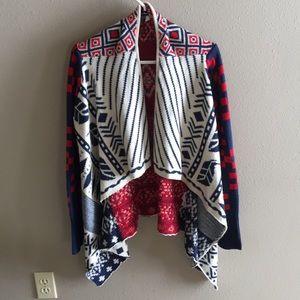 Aztec Open Cardigan